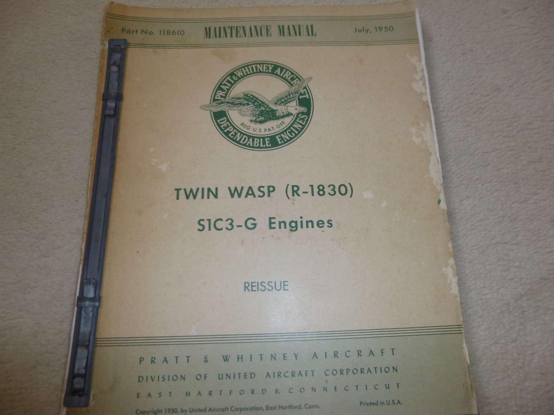 US Air Force Twin Wasp (R-1830) Maintenance Manual
