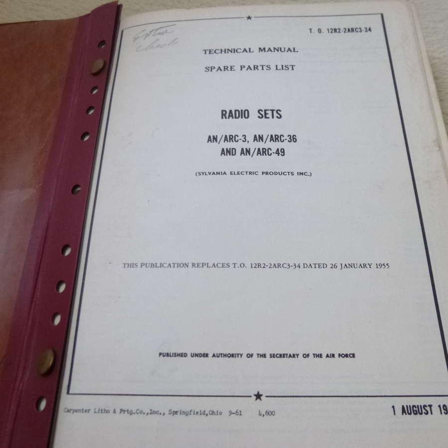 US Air Force AN/ARC-3 - 36 - 49 radio manual