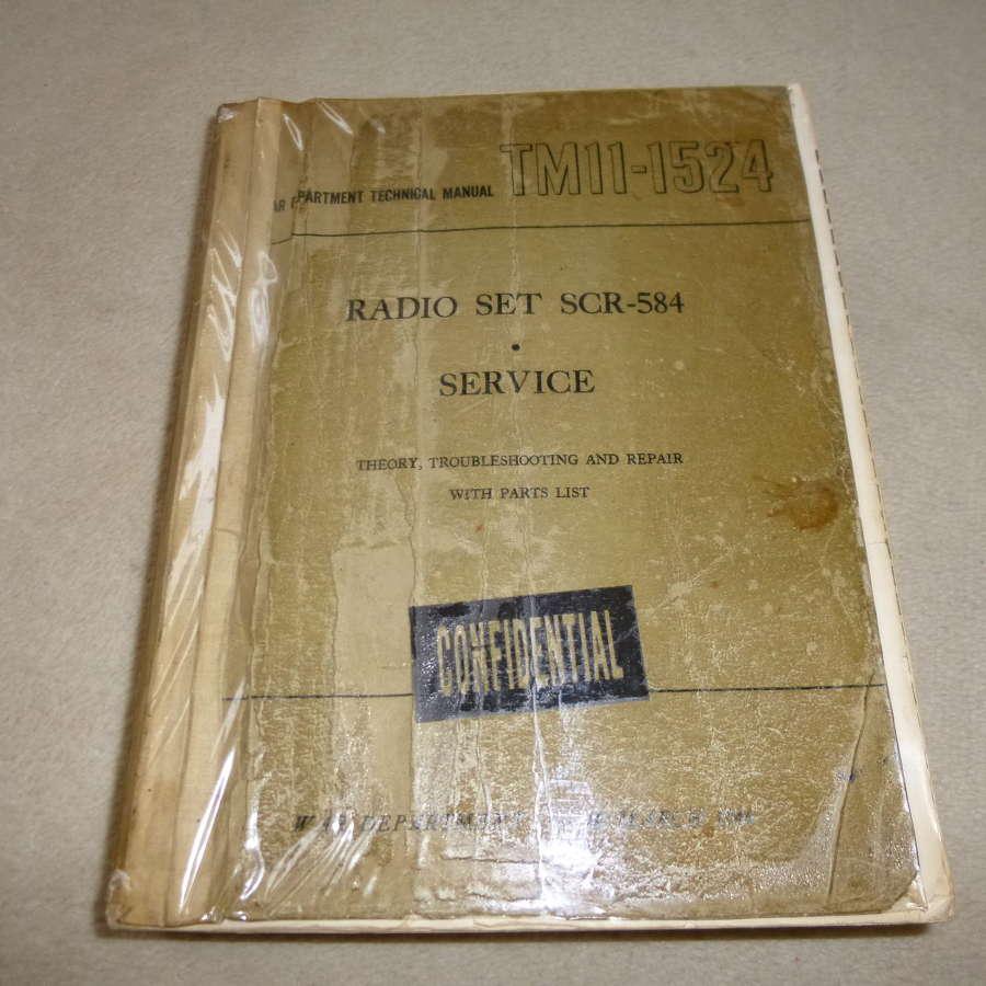 US Army TM11-1524 SCR-584 radar manual