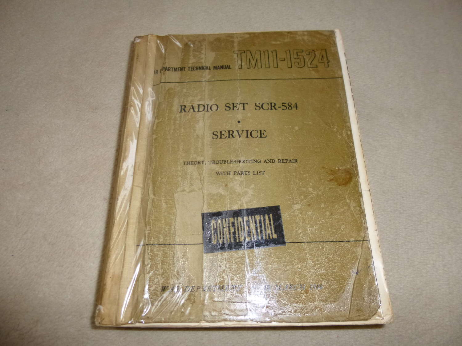 US Army TM11-1524 SCR-584 radar manual