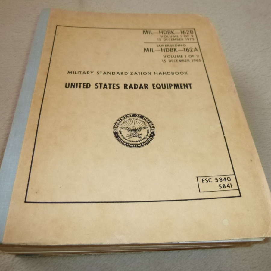 US Army MIL-HDBK-162 radar equipment catalogue