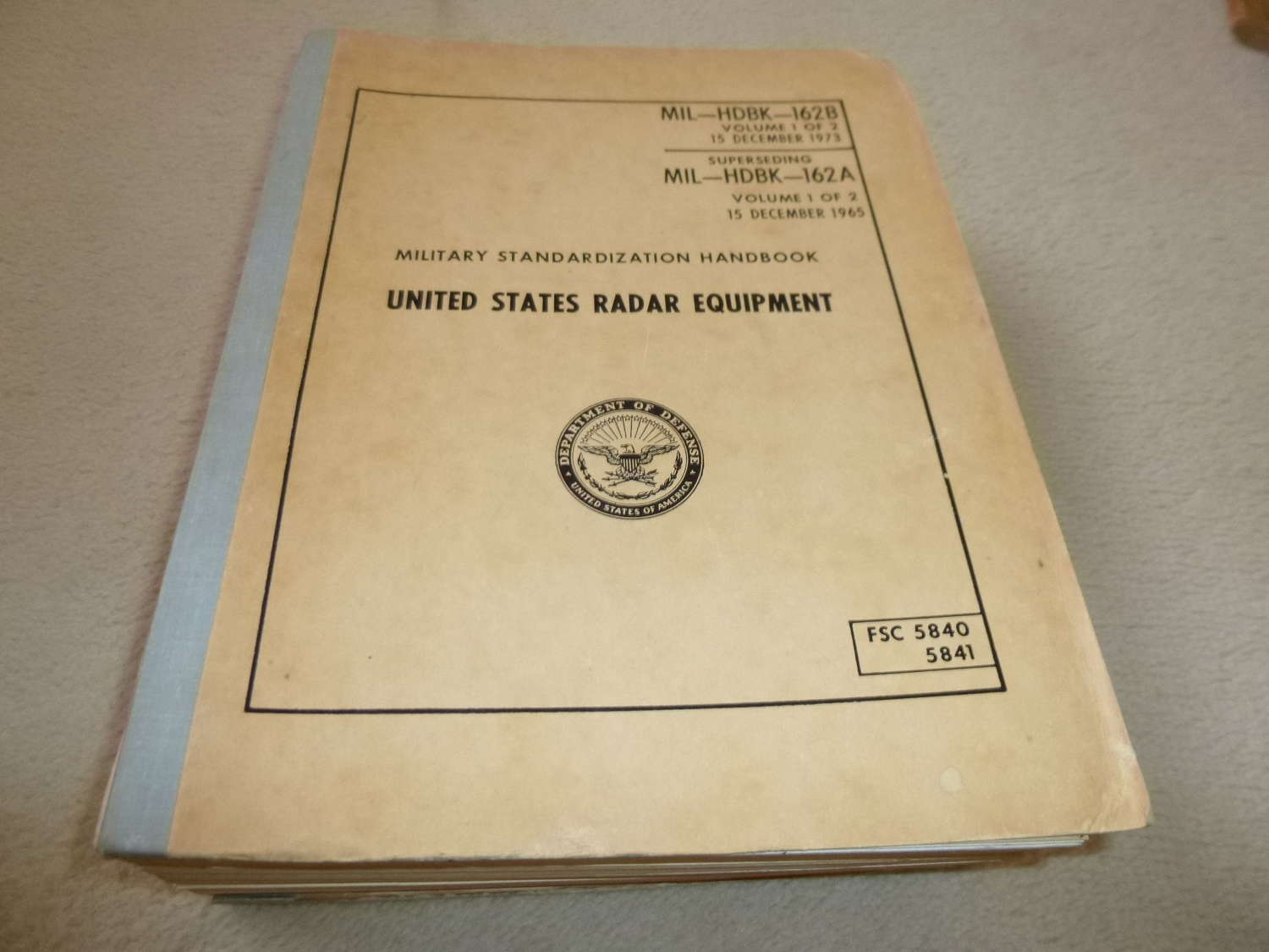 US Army MIL-HDBK-162 radar equipment catalogue