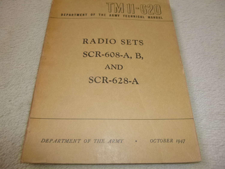 US Army TM11-620 SCR-608-828-A Manual