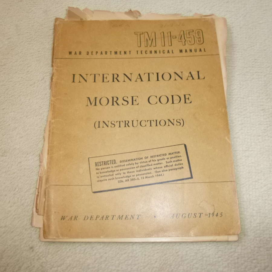 US Army TM11-459 Morse Code training manual