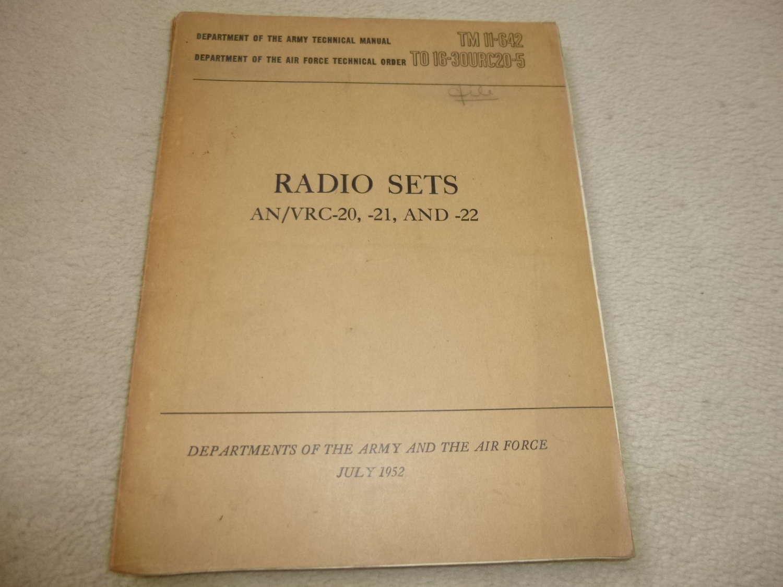 US Army TM11-642 AN/VRC-20-21-22 manual