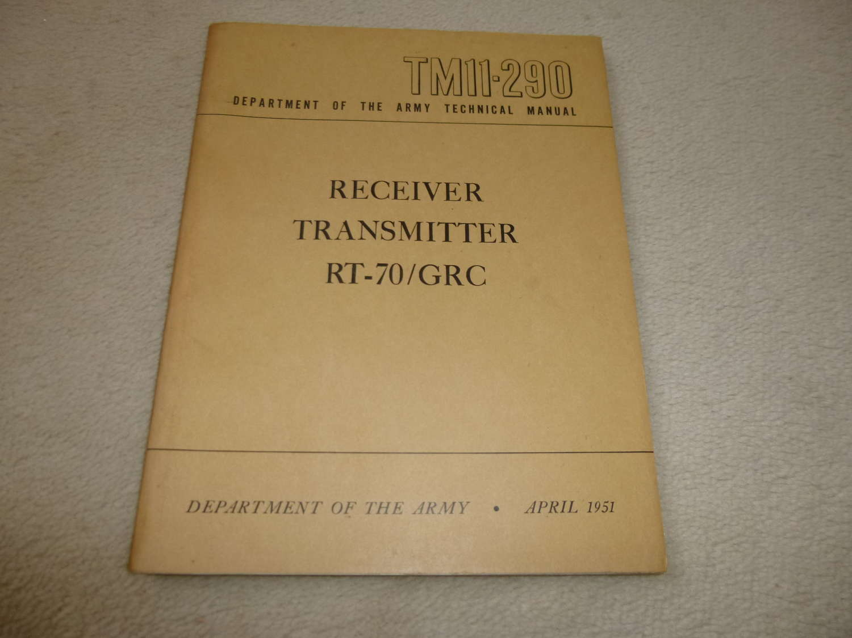 US Army TM11-290 RT79/GRC manual