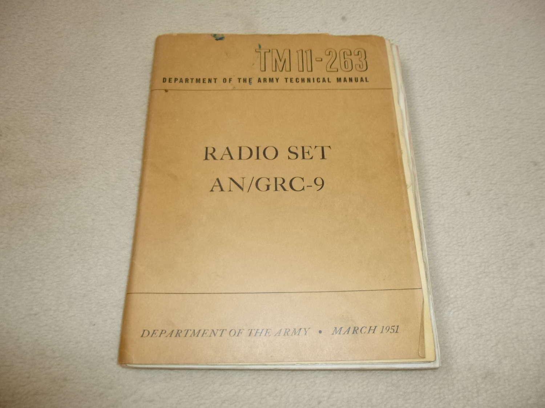 US Army TM11-269 AN/GRC-9 Manual