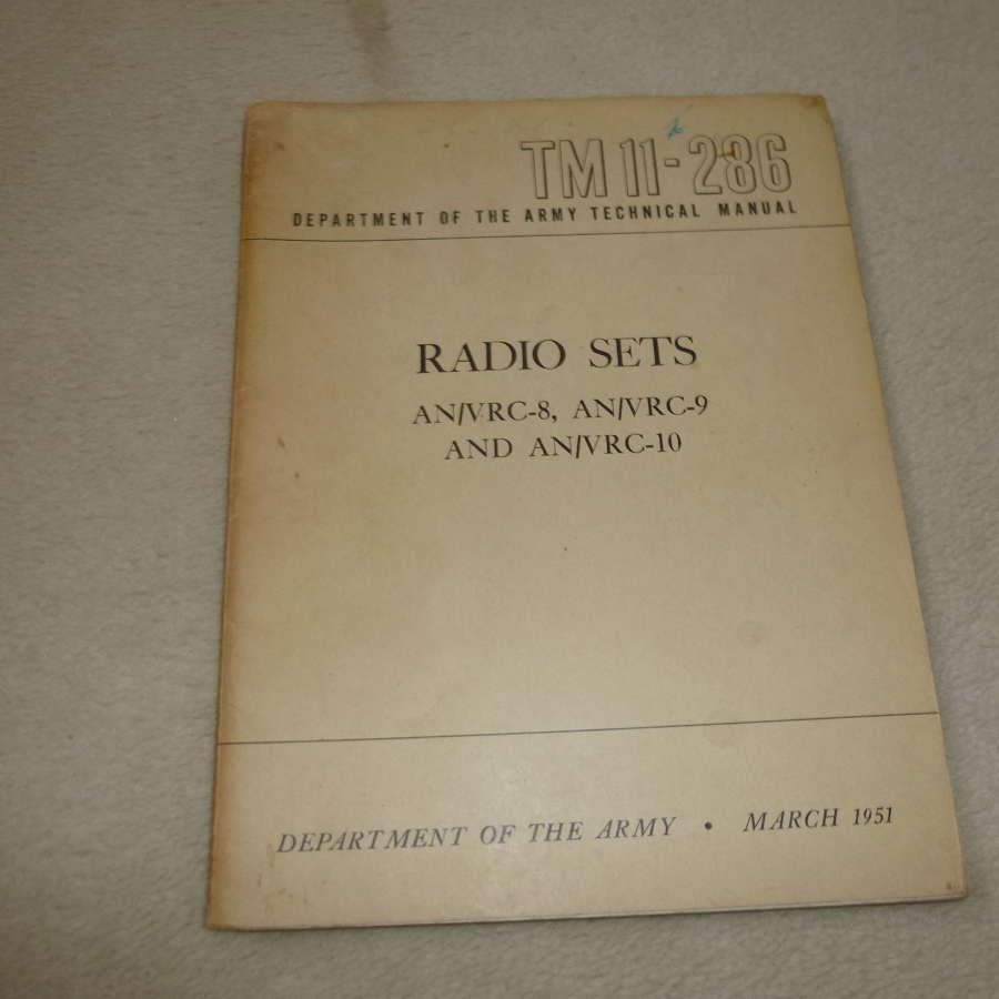 US Army TM11-286 AN/VRC-6-9-10 Manual