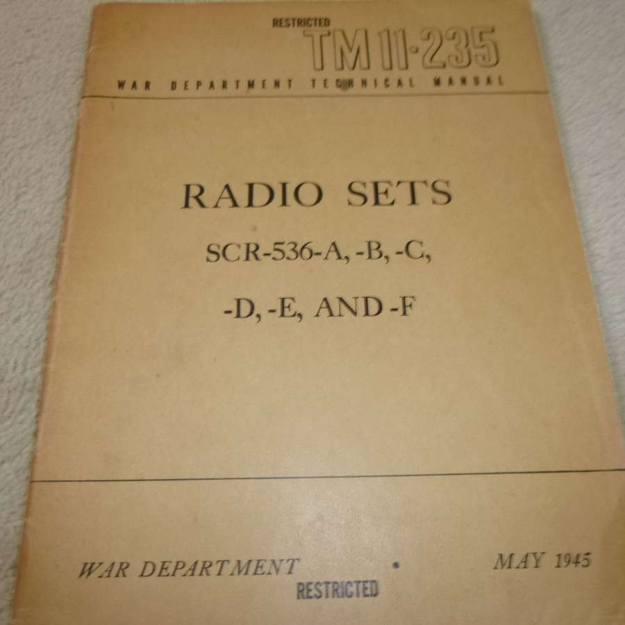 US Army TM11-235 SCR-536 Manual