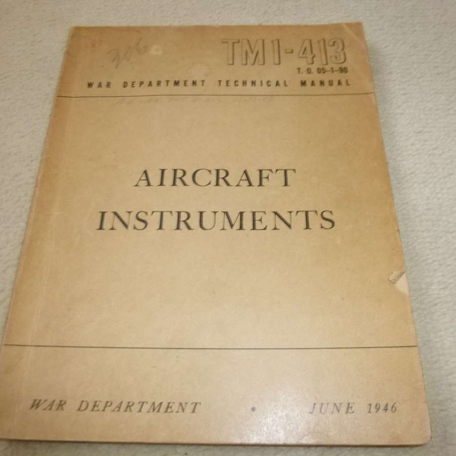US Army TM1-413 Aircraft Instruments Manual
