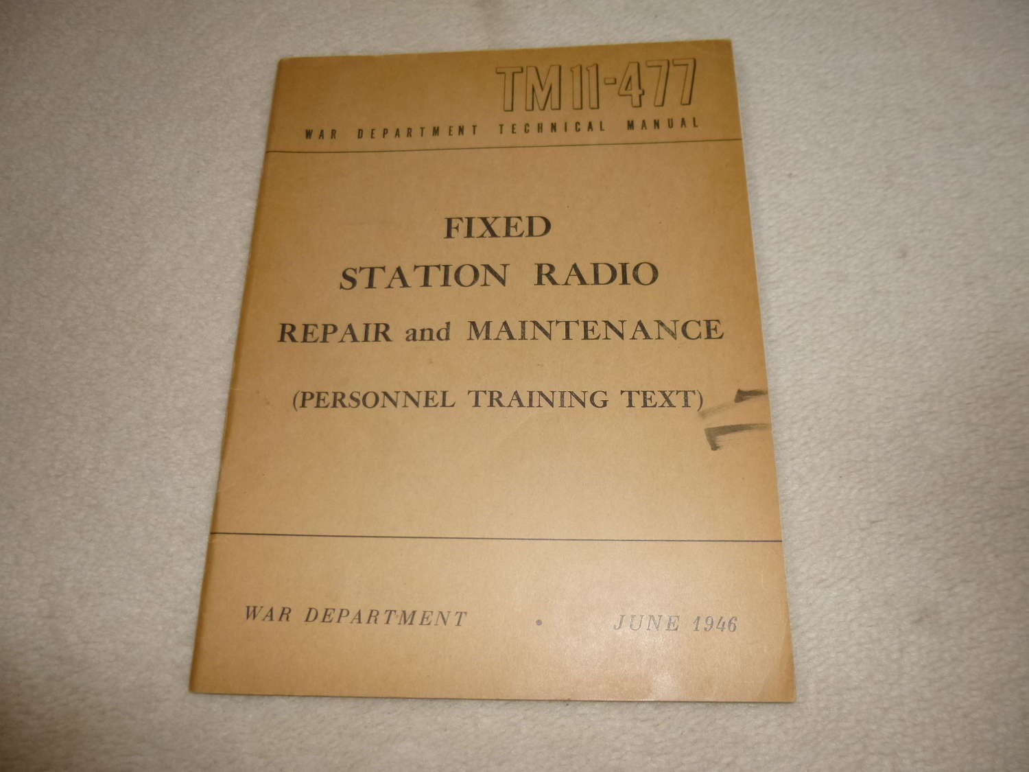 US Army TM11-477 Repair and Maintenance Manual