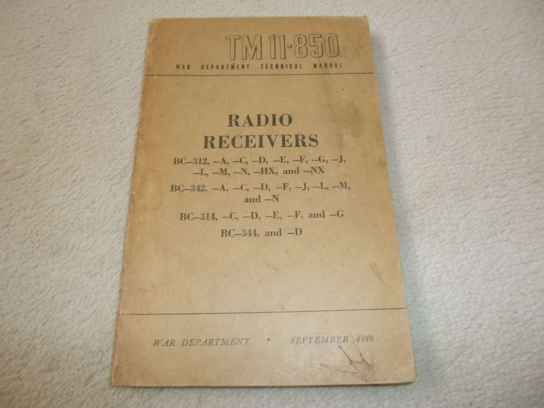 US Army TM11-850 Radio Receiver BC-312-342-314-344 Manual