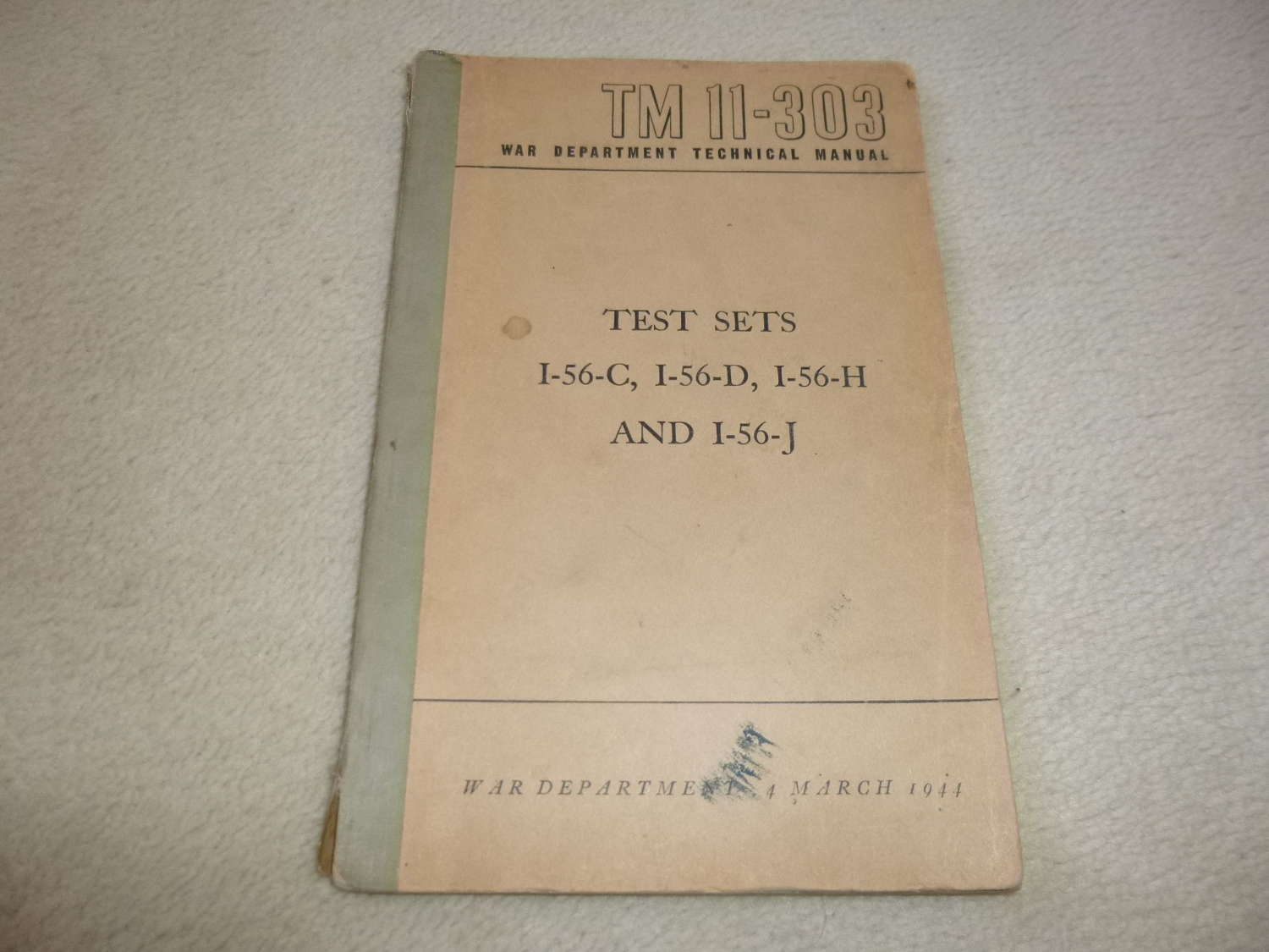 US Army TM11-303 Test Set I-56 Manual