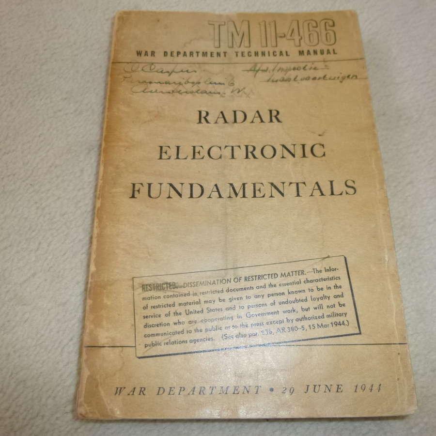 US Army TM11-466 Radar Electronic Fundamentals Manual