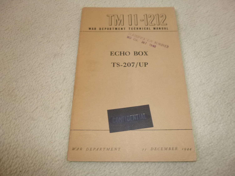US Army TM11-1212 Echo Box TS-207/U Manual