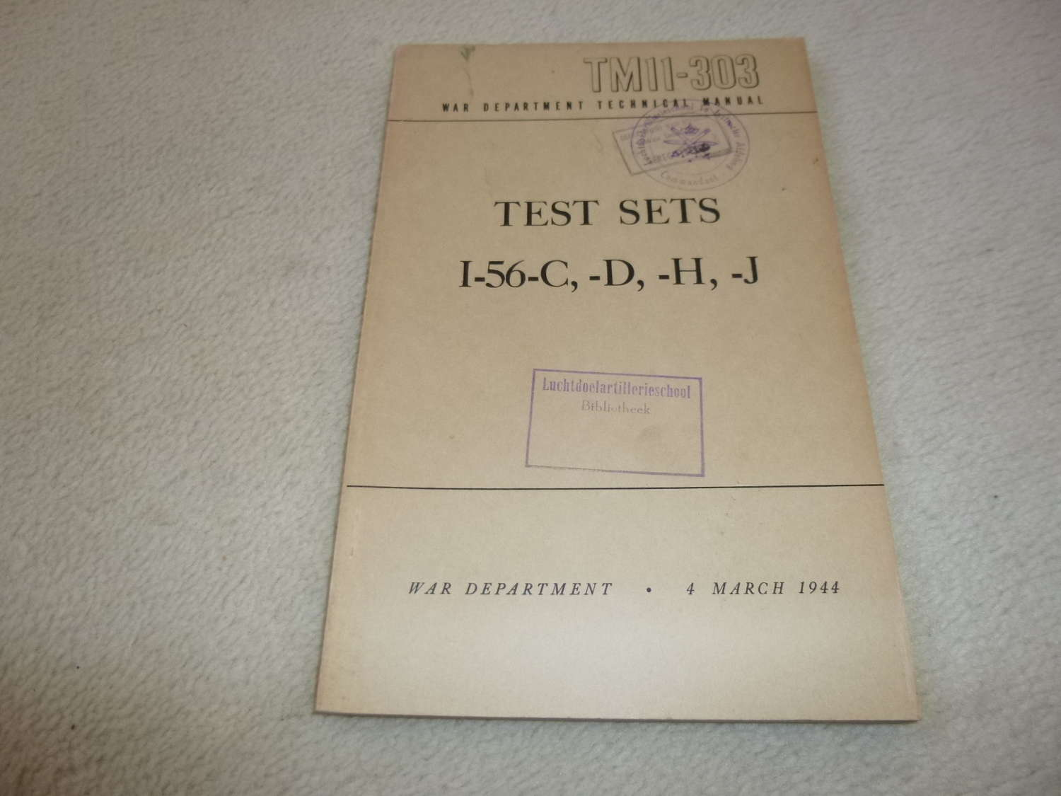 US Army TM11-303 Test Sets I-56 Manual