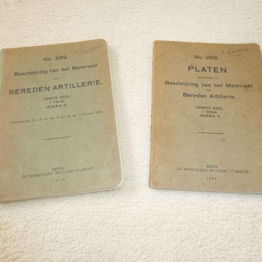 Dutch Army Artillery equipment manuals (2 parts)