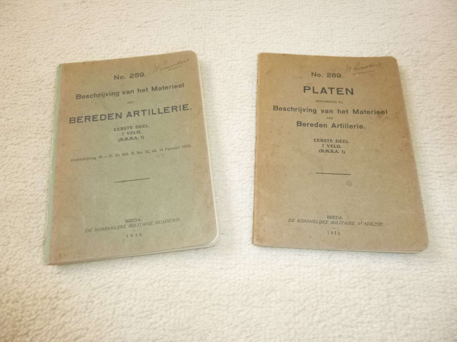 Dutch Army Artillery equipment manuals (2 parts)