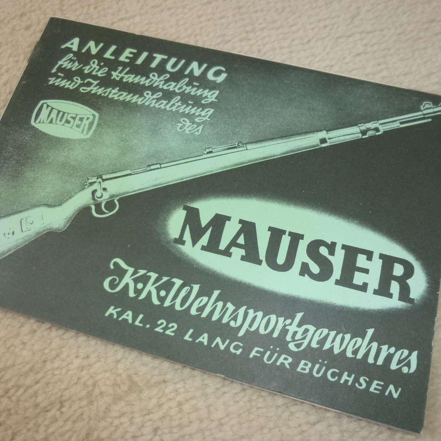 Mauser rifle manual reprint