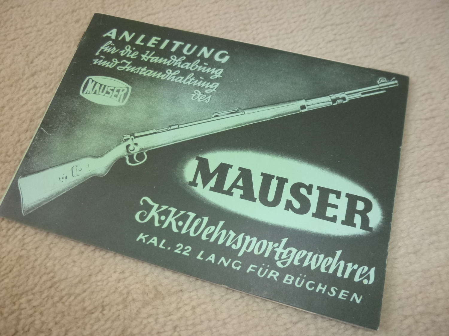 Mauser rifle manual reprint