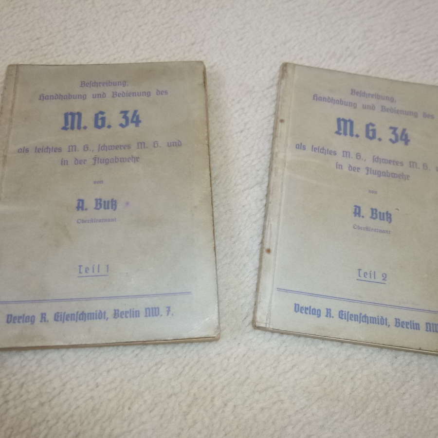 German Army  MG-34 Manuals (2 volumes)