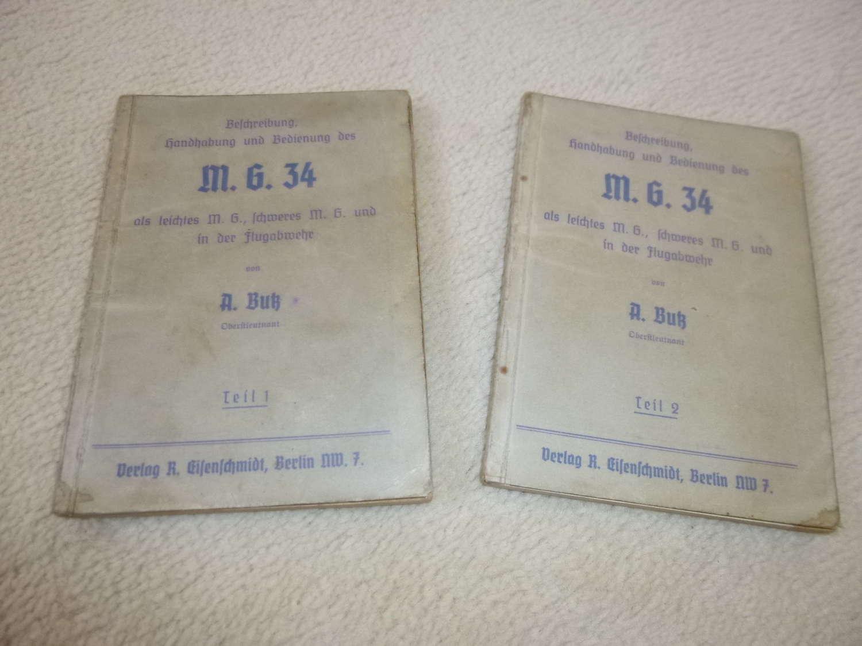 German Army  MG-34 Manuals (2 volumes)