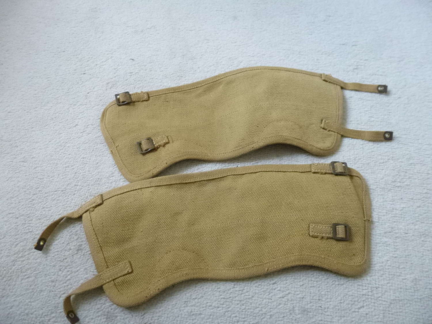 A pair of canadian gaiters