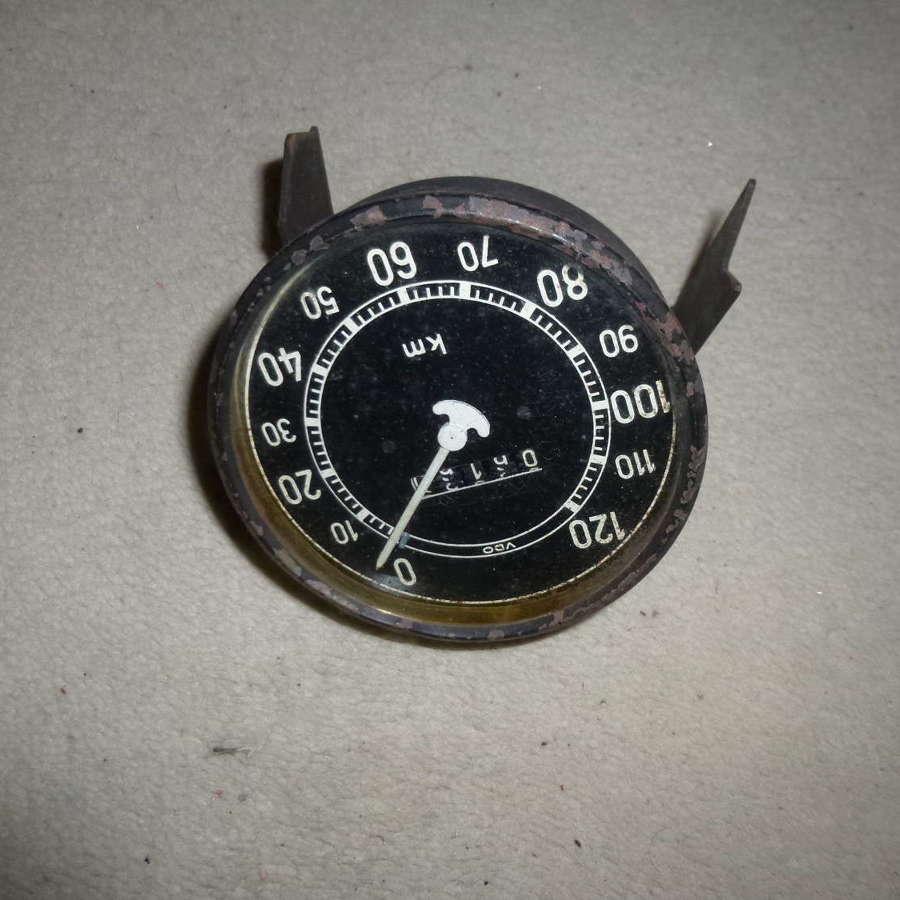 Wehrmacht speedometer 120 kmh